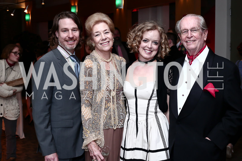Ethan McSweeny, Dorothy McSweeny, Nancy McSweeny, and Bill McSweeny. Photo by Tony Powell. 2016 Studio Theatre Gala. April 1, 2016