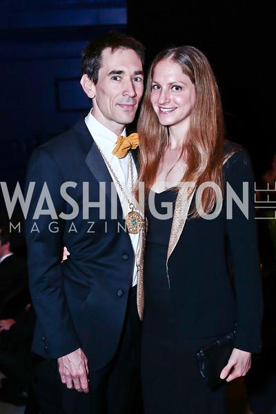 Studio Theatre Artistic Director David Muse, Hannah Arem. Photo by Tony Powell. 2016 Studio Theatre Gala. April 1, 2016