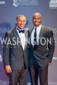 Johnny Taylor, Raleigh Davis. Photo by Tony Powell. 2016 Thurgood Marshall College Fund Gala. Washington Hilton. November 21, 2016