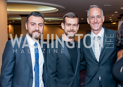 Roy Abdo, Jack Dorsey, Jeffrey Siminoff. Photo by Tony Powell. 2016 Thurgood Marshall College Fund Gala. Washington Hilton. November 21, 2016