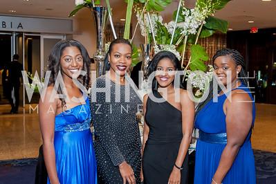 Alexis Shokere, Rashada Turner, Jaya McFarland, Crystal Cleare. Photo by Tony Powell. 2016 Thurgood Marshall College Fund Gala. Washington Hilton. November 21, 2016