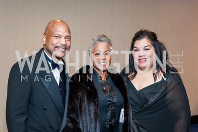 James and Judith Simons, Veronica Santos. Photo by Tony Powell. 2016 Thurgood Marshall College Fund Gala. Washington Hilton. November 21, 2016