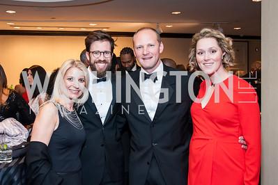 Katey Roberts, John Harden, Ryan Stouwers, Tricie Jacobson. Photo by Tony Powell. 2016 Thurgood Marshall College Fund Gala. Washington Hilton. November 21, 2016