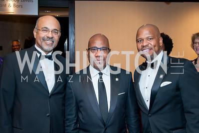 Ronald Mason, David Wilson, Ted Colbert. Photo by Tony Powell. 2016 Thurgood Marshall College Fund Gala. Washington Hilton. November 21, 2016