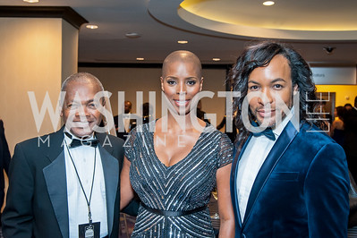 Stanley Bennett Clay, Sidra Smith, Paul Wharton. Photo by Tony Powell. 2016 Thurgood Marshall College Fund Gala. Washington Hilton. November 21, 2016