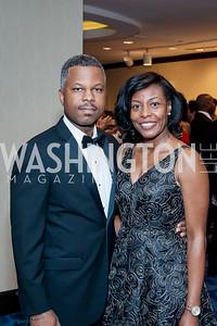 Wallace Sellars, Emily Dickens. Photo by Tony Powell. 2016 Thurgood Marshall College Fund Gala. Washington Hilton. November 21, 2016