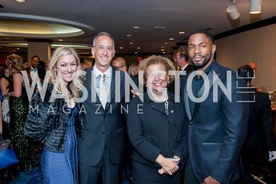Renee Attwood, Jeffrey Siminoff, Debra Lee, Tobias Truvillion. Photo by Tony Powell. 2016 Thurgood Marshall College Fund Gala. Washington Hilton. November 21, 2016
