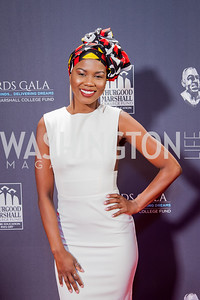 Singer V Bozeman. Photo by Tony Powell. 2016 Thurgood Marshall College Fund Gala. Washington Hilton. November 21, 2016