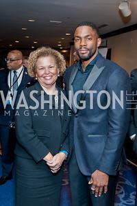 Debra Lee, Tobias Truvillion. Photo by Tony Powell. 2016 Thurgood Marshall College Fund Gala. Washington Hilton. November 21, 2016