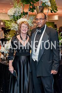 Katherine Broderick, Mark Edwards. Photo by Tony Powell. 2016 Thurgood Marshall College Fund Gala. Washington Hilton. November 21, 2016