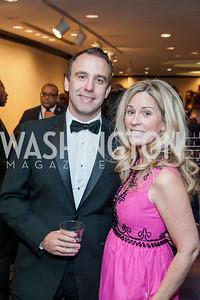 Dave Dziok, Amy Treaner. Photo by Tony Powell. 2016 Thurgood Marshall College Fund Gala. Washington Hilton. November 21, 2016