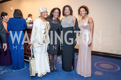 Rev. Beryle Dennis, Jacqueline Jones, Camille Mosely, Maya Pope-Chappell. Photo by Tony Powell. 2016 Thurgood Marshall College Fund Gala. Washington Hilton. November 21, 2016