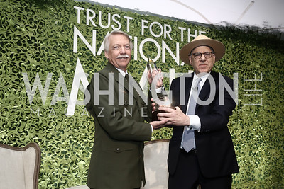 National Park Service Jonathan Jarvis, David Rubenstein. Photo by Tony Powell. 2016 Trust for the National Mall Luncheon. April 28, 2016