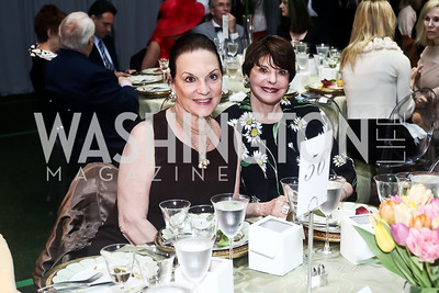 Grace Bender, Marlene Malek. Photo by Tony Powell. 2016 Trust for the National Mall Luncheon. April 28, 2016