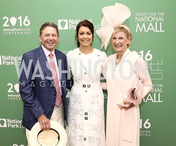 Chip Akridge, Bellamy Young, Sally Akridge. Photo by Tony Powell. 2016 Trust for the National Mall Luncheon. April 28, 2016