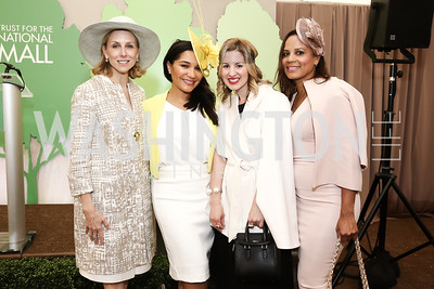 Katherine Bradley, Natasha Bobo, Marissa Mitrovich, Michelle Fenty. Photo by Tony Powell. 2016 Trust for the National Mall Luncheon. April 28, 2016