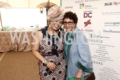 Tiffany Rose, Sheila Johnson. Photo by Tony Powell. 2016 Trust for the National Mall Luncheon. April 28, 2016