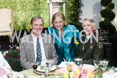 National Park Foundation President Will Shafroth, Sen. Mary Landrieu, National Park Service Jonathan Jarvis. Photo by Tony Powell. 2016 Trust for the National Mall Luncheon. April 28, 2016