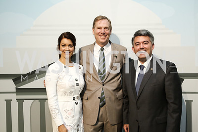 Bellamy Young, National Park Foundation President Will Shafroth, Rep Cory Gardner. Photo by Tony Powell. 2016 Trust for the National Mall Luncheon. April 28, 2016