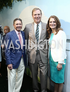 Chip Akridge, National Park Foundation President Will Shafroth, Trust President & CEO Catherine Townsend. Photo by Tony Powell. 2016 Trust for the National Mall Luncheon. April 28, 2016