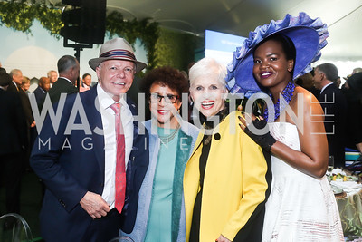 Botswana Amb. David Newman, Sheila Johnson, Jan Du Plain, Changu Newman. Photo by Tony Powell. 2016 Trust for the National Mall Luncheon. April 28, 2016