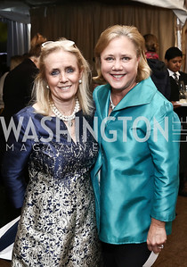 Rep. Debbie Dingell, Sen. Mary Landrieu. Photo by Tony Powell. 2016 Trust for the National Mall Luncheon. April 28, 2016