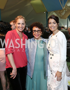 Ami Aronson, Sheila Johnson, Bellamy Young. Photo by Tony Powell. 2016 Trust for the National Mall Luncheon. April 28, 2016