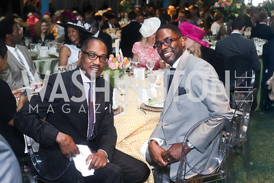 Yelburton Watkins, Andre Wells. Photo by Tony Powell. 2016 Trust for the National Mall Luncheon. April 28, 2016