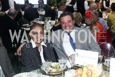 Rep. Eleanor Holmes Norton, Ernie Jarvis. Photo by Tony Powell. 2016 Trust for the National Mall Luncheon. April 28, 2016