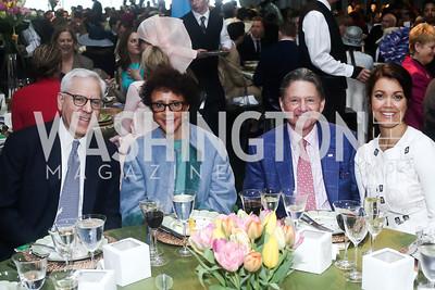 David Rubenstein, Sheila Johnson, Chip Akridge, Bellamy Young. Photo by Tony Powell. 2016 Trust for the National Mall Luncheon. April 28, 2016