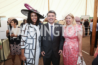 Luncheon Chair Marie Sylla-Dixon, Rep. Cory Gardner, Luncheon Vice-Chair Kelly Cole. Photo by Tony Powell. 2016 Trust for the National Mall Luncheon. April 28, 2016