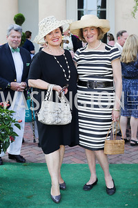 Liechtenstein Amb. Claudia Fritsche, Beverly Lane Jost. Photo by Tony Powell. 2016 Tudor Place Bicentennial. May 25, 2016