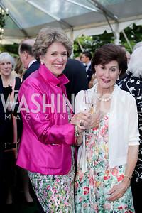 Pam Somers, Sally Chapoton. Photo by Tony Powell. 2016 Tudor Place Bicentennial. May 25, 2016