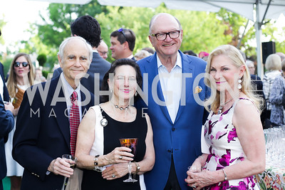 Drs. David and Sharon Lockwood, Hank Werronen, Susan Pillsbury. Photo by Tony Powell. 2016 Tudor Place Bicentennial. May 25, 2016