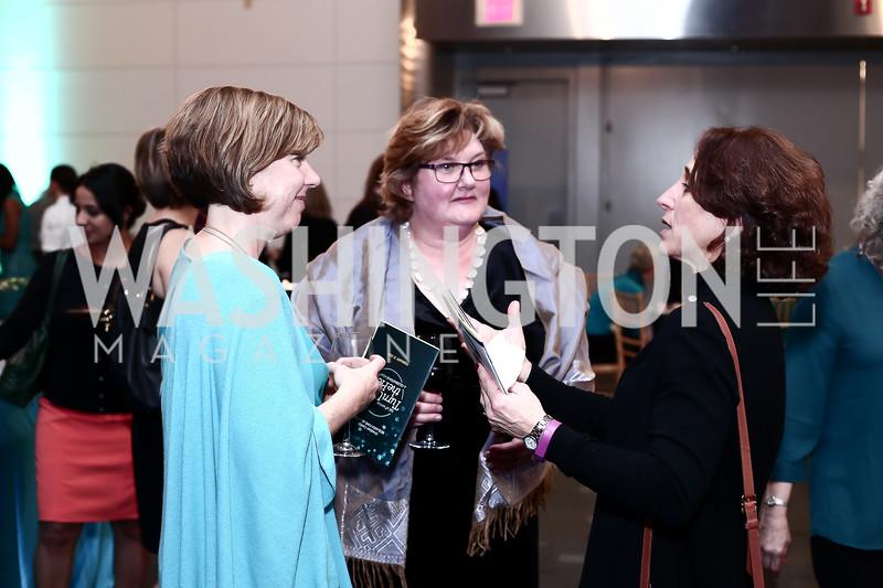 Tori Hall, Pamela Baker-Masson, Sue Kalweit. Photo by Tony Powell. Turn Up the Heat! Gala. Reagan Building. February 17, 2016