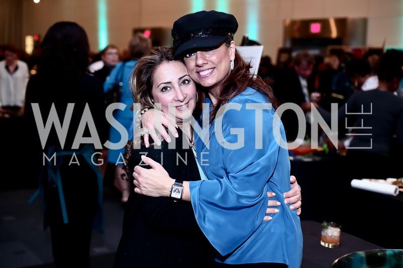 Katia Abi Khaled, Gladys Abi-Najm. Photo by Tony Powell. Turn Up the Heat! Gala. Reagan Building. February 17, 2016
