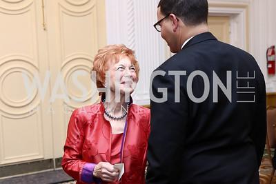 Ann Watkins and son Matthew Watkins. Photo by Tony Powell. 2016 Tuxedo Ball. Omni Shoreham. December 30, 2016