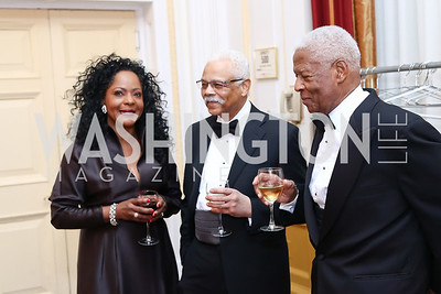 Darlene and Wendell Gardner, Robert Watkins. Photo by Tony Powell. 2016 Tuxedo Ball. Omni Shoreham. December 30, 2016