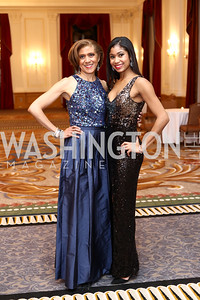 Faith Thomas and daughter Alexandra Thomas. Photo by Tony Powell. 2016 Tuxedo Ball. Omni Shoreham. December 30, 2016