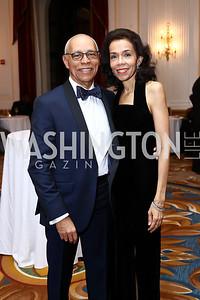 Channing Johnson, Dr. Carolyn Yancey. Photo by Tony Powell. 2016 Tuxedo Ball. Omni Shoreham. December 30, 2016