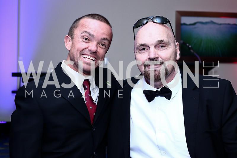 Jason Acuna, Jim Karol. Photo by Tony Powell. 2016 USO Annual Awards Dinner. April 19, 2016