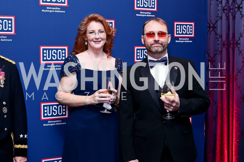 Melissa and John Meadows. Photo by Tony Powell. 2016 USO Annual Awards Dinner. April 19, 2016