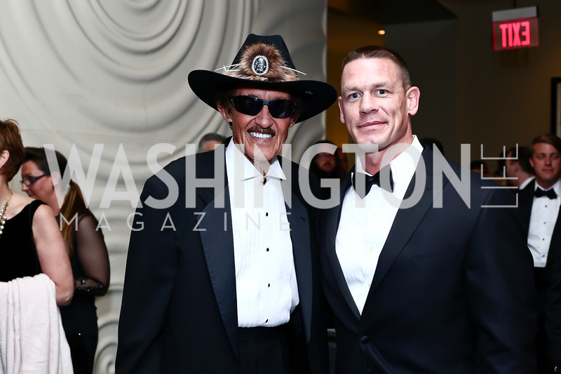 Richard Petty, John Cena. Photo by Tony Powell. 2016 USO Annual Awards Dinner. April 19, 2016