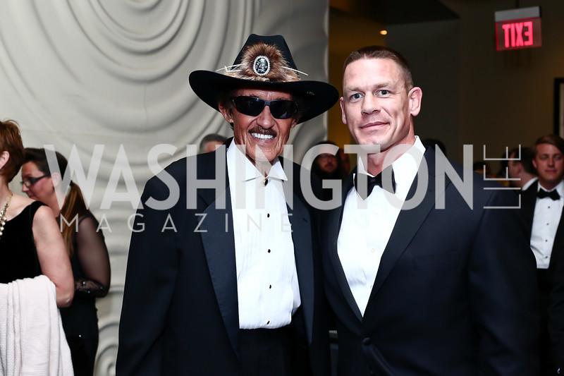 Richard Petty, John Cena. Photo by Tony Powell. 2016 USO Annual Awards Dinner. April 19, 2016
