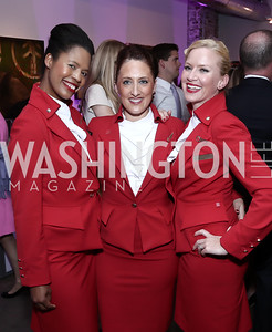 Andrea Burton, Francesca Kerridge, Pamela McCormick. Photo by Tony Powell. 2016 Virgin Atlantic Business is an Adventure Event. Longview Gallery. April 26, 2016