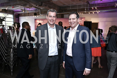 Chris Rossi, Craig Kreeger. Photo by Tony Powell. 2016 Virgin Atlantic Business is an Adventure Event. Longview Gallery. April 26, 2016