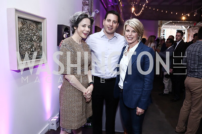 Heather Podesta, Roy Schwartz, Penny Lee. Photo by Tony Powell. 2016 Virgin Atlantic Business is an Adventure Event. Longview Gallery. April 26, 2016