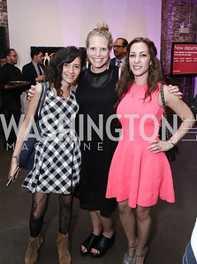 Yasmine El Baggari, Amelia Makin, Anastasia Dellaccio. Photo by Tony Powell. 2016 Virgin Atlantic Business is an Adventure Event. Longview Gallery. April 26, 2016