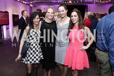 Yasmine El Baggari, Amelia Makin, Fran Holuba, Anastasia Dellaccio. Photo by Tony Powell. 2016 Virgin Atlantic Business is an Adventure Event. Longview Gallery. April 26, 2016