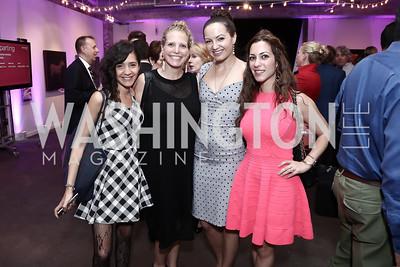Yasmine El Baggari, Amelia Makin, Fran Holuba, Anastasia Dellaccio. Photo by Tony Powell. 2016 Virgin Atlantic Business is an Adventure Event. Longview Gallery. April 26, 2016